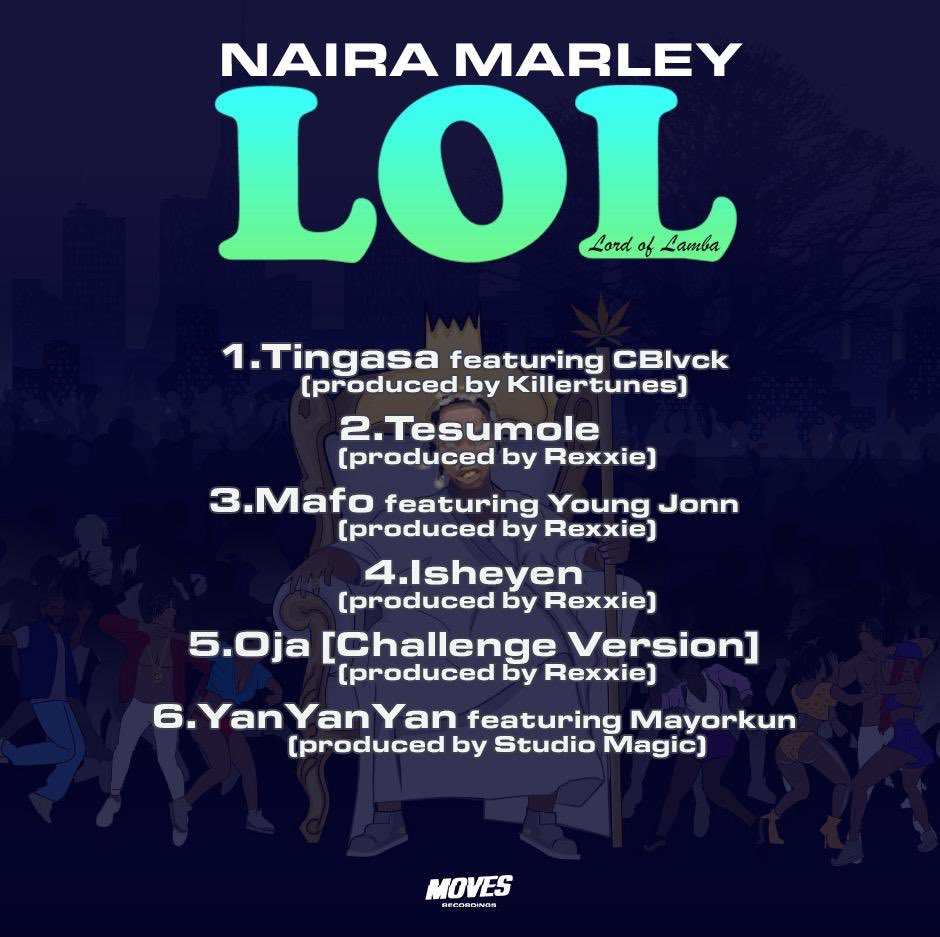 Naira marley Lord of Lamba (LOL) EP Track list and Review