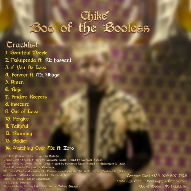 Chike - Boo Of The Booless Tracklist