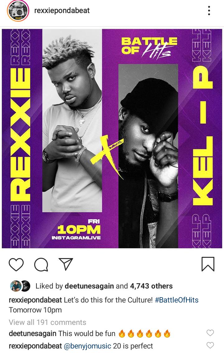 Kel - P vs Rexxie Set To Go Down On Friday!... It's Hits Season