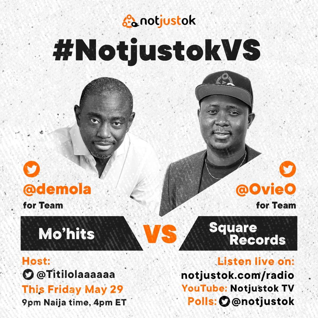 #NotjustokVS: Mo'hits VS Square Records | This Friday, May 29