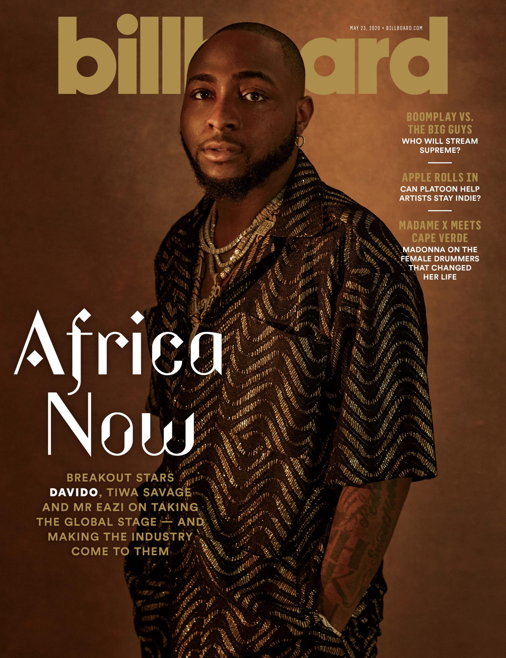 Davido, Tiwa Savage & Mr. Eazi Cover Latest Billboard Edition