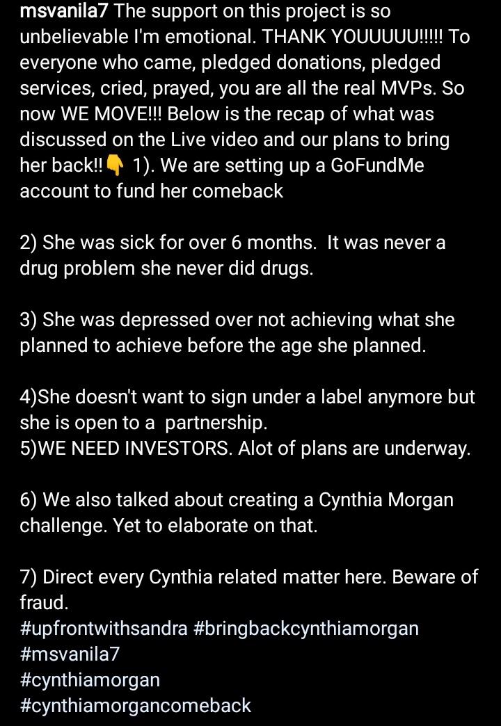 Why The Cynthia Morgan Story Hurts