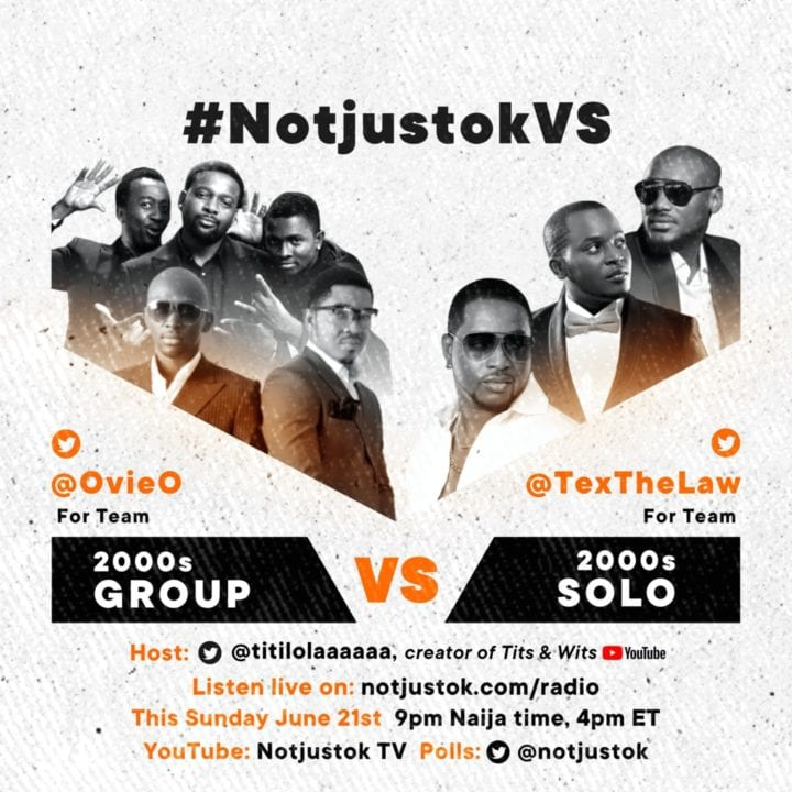 LIVE STREAM: The 2000s - GROUPs VS SOLO | #NotjustokVS
