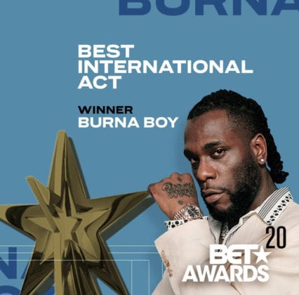 Burna Boy BET Awards Best International Act