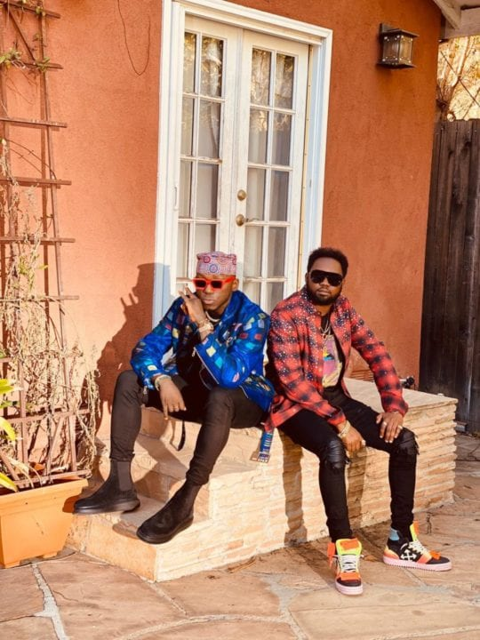 "DJ Spinall, Kranium on the set of ""Everytime"" video shoot"