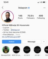 Laycon Becomes The 1st BBNaija Housemate To get Verified on Instagram