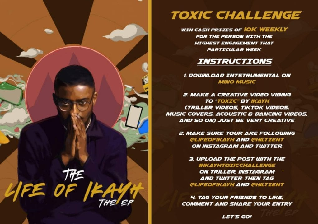 Win N10,000 Every Week With #IkayToxicChallenge by Ikayh