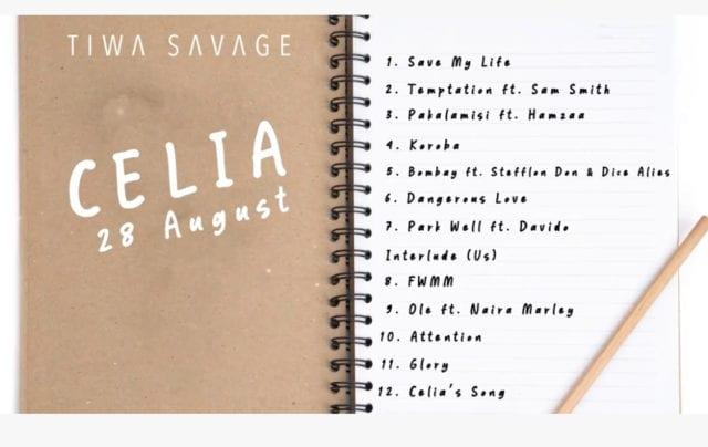 Tiwa Savage Album Celia Tracklist