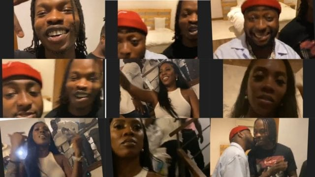 Watch Davido, Naira Marley, DJ Spinall @ The Surprise Listening Party for Tiwa Savage's Celia
