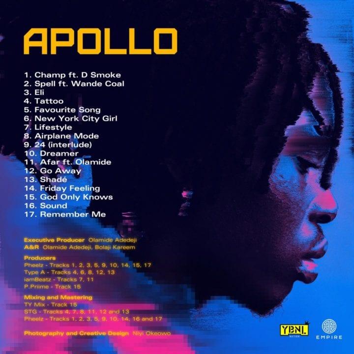 Fireboy Apollo tracklist