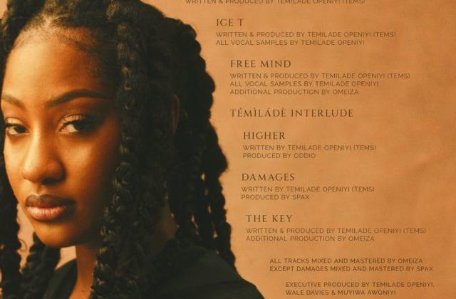Tems EP tracklist