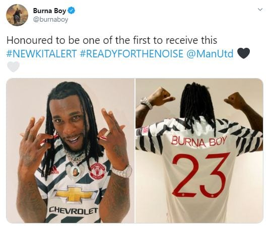Burna Boy manchester united