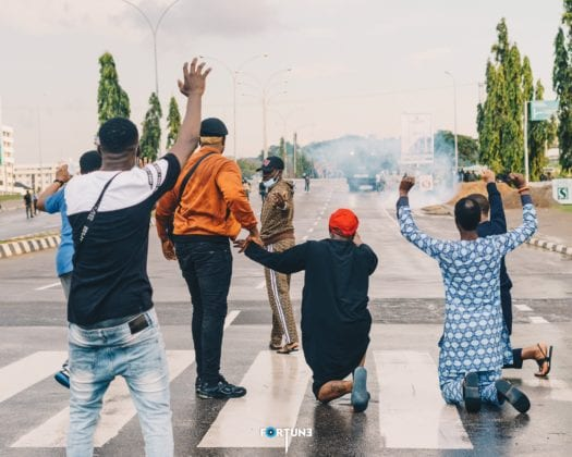 Davido for the people at #EndSARS protests