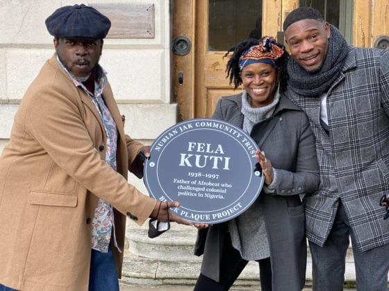 Fela Kuti Plaque