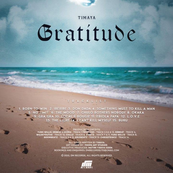 Timaya - Gratitude Tracklist