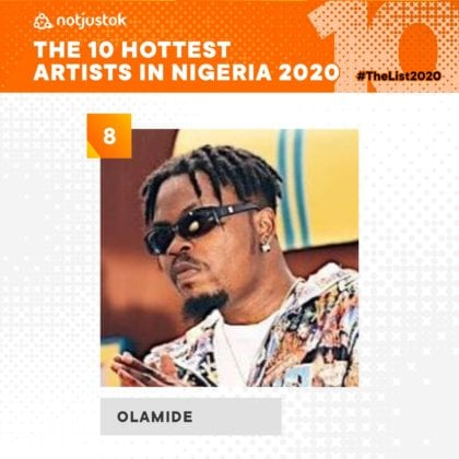 Olamide - Top Artists of 2020 | #TheList2020