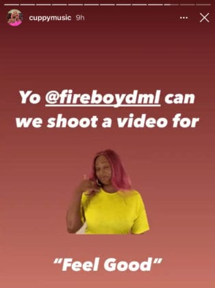 DJ Cuppy Set To Shoot 'Feel Good' Video with Fireboy DML