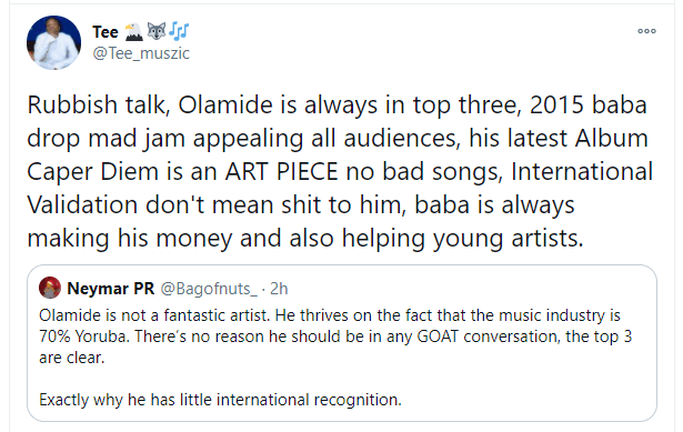 Olamide GOAT or not