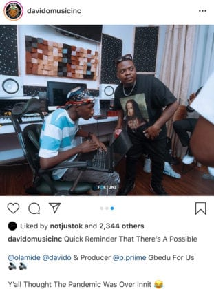 Davido and Olamide Collaboration
