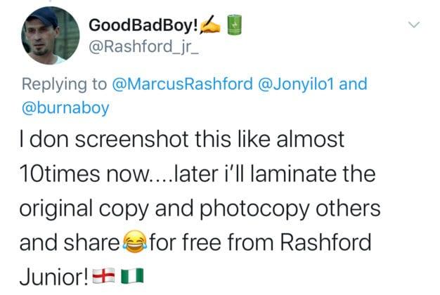 Marcus Rashford and Burna Boy