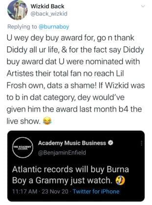 Burna Boy Grammys