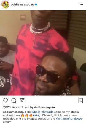 Bella Shmurda Is Up To Something With Cobhams Asuquo