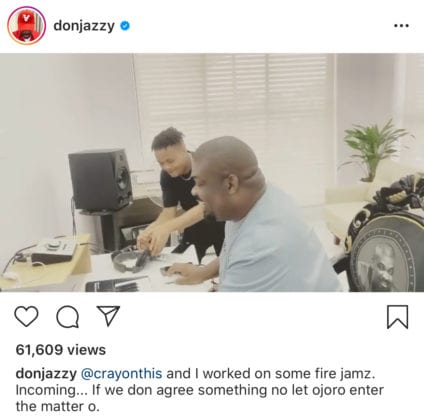 Don Jazzy And Crayon