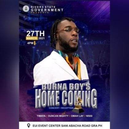 Burna boy Homecoming concert