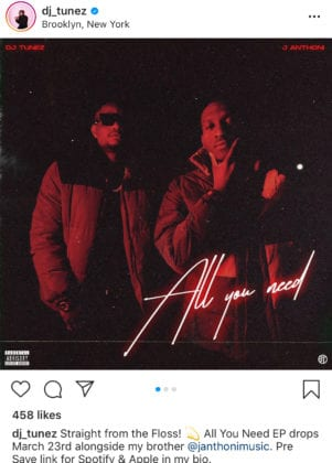 Dj Tunez and J Anthoni All You Need EP