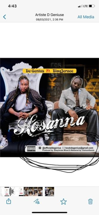 De-Genius Teams Up With Blaq Jerzee For – Hossana