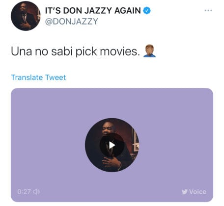 Don Jazzy questions Nigerians about their Netflix choices