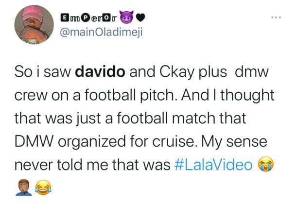 Davido ft Ckay - Lala Video