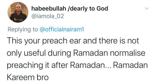 Reaction to Naira Marley Ramadan 2021 list