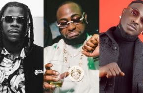 Davido partying with Peruzzi and Stonebwoy