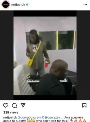 Don Jazzy and Burna boy working on new music