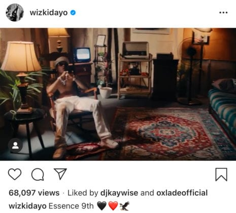 Wizkid ft Tems Essence video