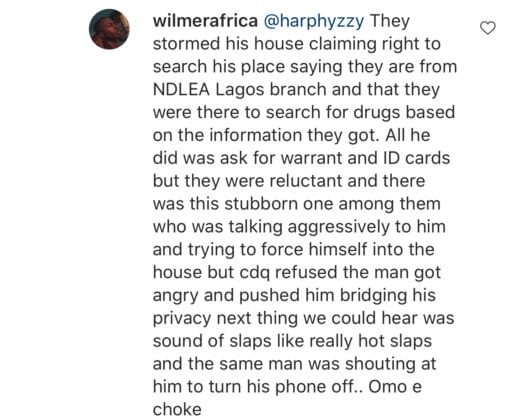 CDQ reacts to NDLEA