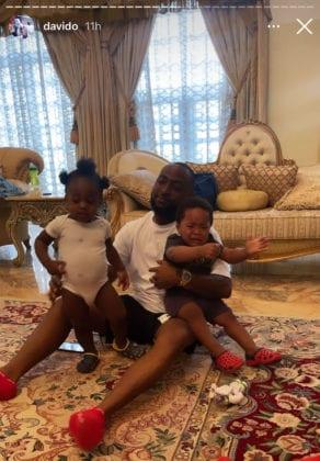 Davido and son, Ifeanyi Adeleke