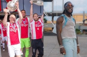Ajax FC players vibing to Burna Boy's On the low