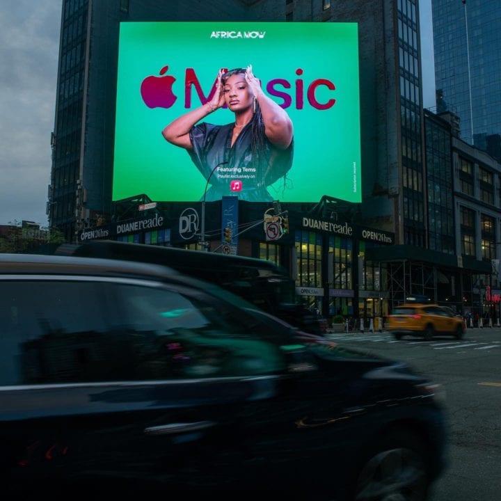 Tems billboard X apple music