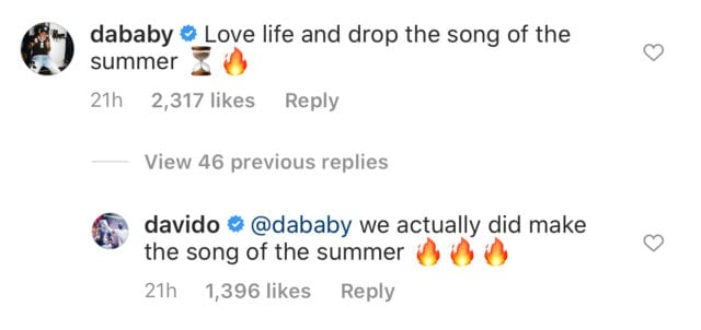 DaBaby To Visit Nigeria For Video Shoot With Davido