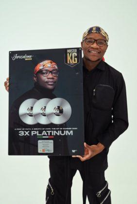Master KG - 3x Platinum Plaque for 'Jerusalema'