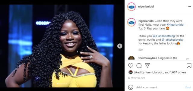 Emmanuel Eliminated from Nigerian Idol as Top 5 Emerge | NotjustOK