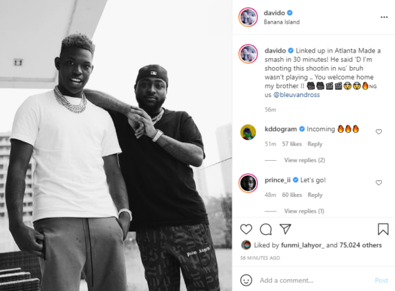 Yung Blue and Davido to Shoot Video in Nigeria | See Details