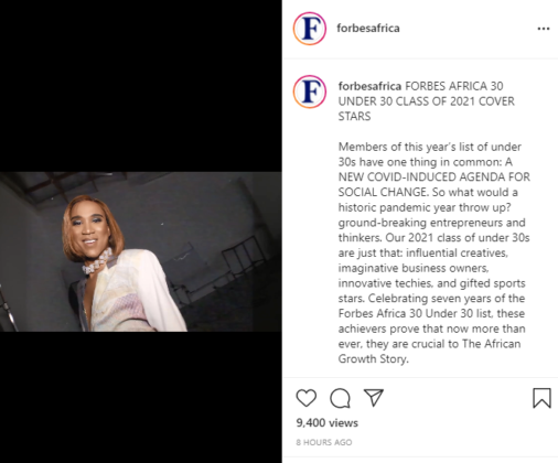 """Rema and Master KG Listed in 2021 Forbes Africa """"30 Under 30"""" List"""