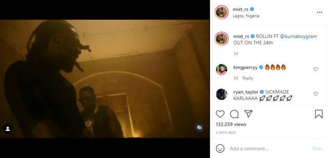 UK Rapper Mist Drops Teaser for New Song With Burna Boy 'Riddin' | Watch