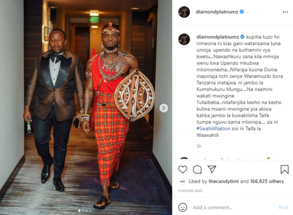 Diamond Platnumz Turned up for the #BETAwards in Full Swahili Garb