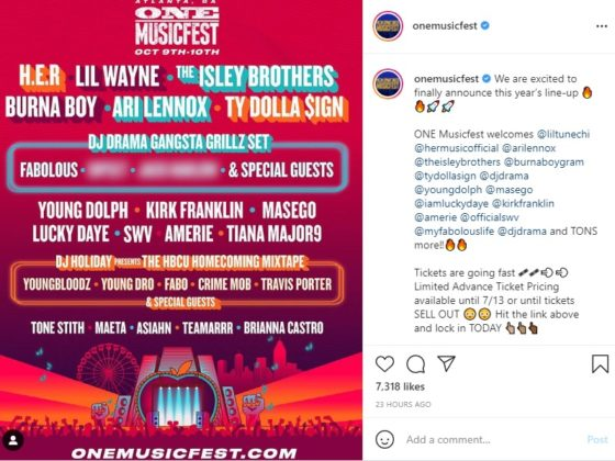 Burna Boy Named on the Lineup for This Year's One Music Fest in Atlanta
