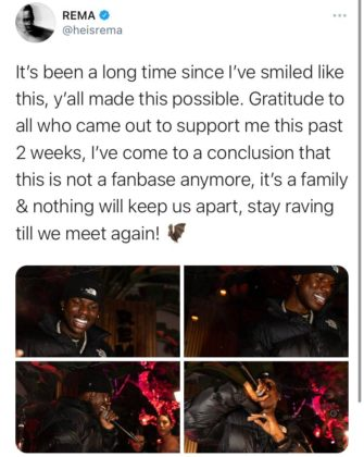 'Stay Raving Till We Meet Again' - Rema Ends US Club Tour in Philadelphia