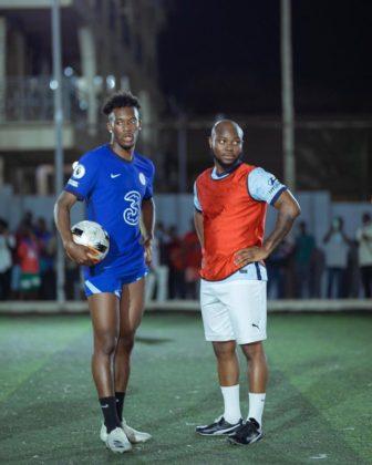 Watch King Promise Take Callum Hudson-Odoi on Hood Football in Ghana